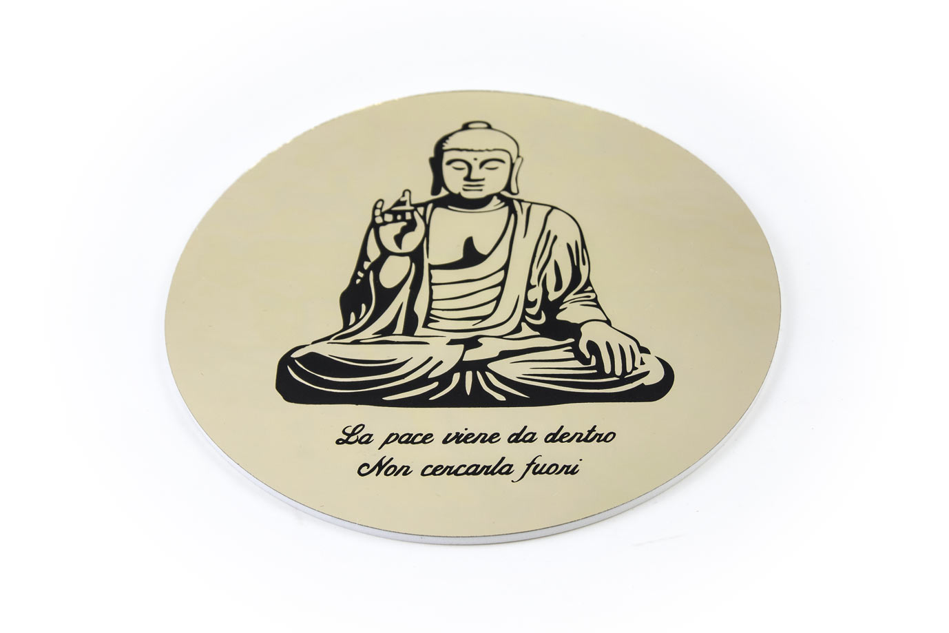 buddha specchio oro