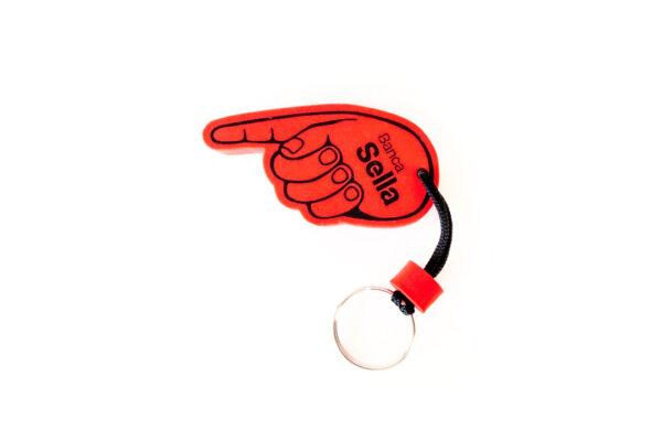 portachiavi dito indice anti-covid per toccare le superfici